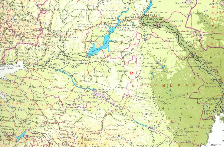 Карта Бейсугского Лимана